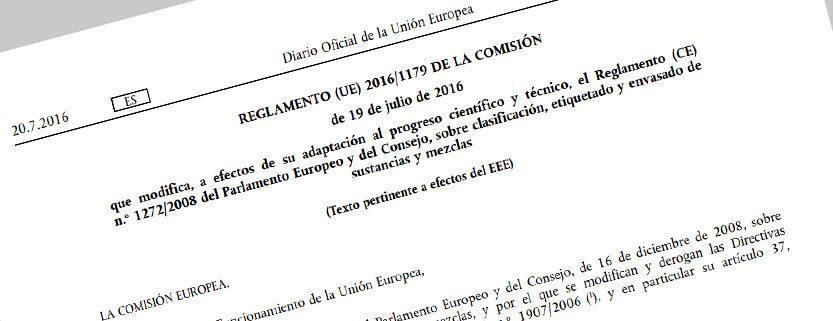 Reglamento (UE) 2016/1179 de la comisión
