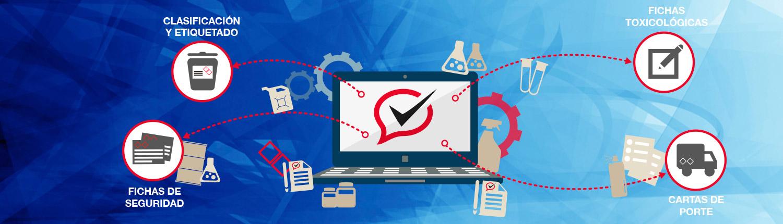 Software de gestión eQgest, diseñado para cumplir las normativas CLP, ADR y REACH, ayuda en la prevención de riesgos a través de la generación de fichas de datos de seguridad